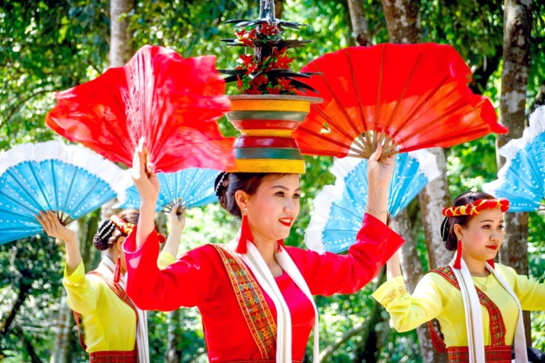 Different Asian National Costumes